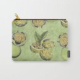 Walnuts Faded Lime Color Carry-All Pouch
