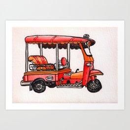Bangkok : Tuk Tuk Art Print