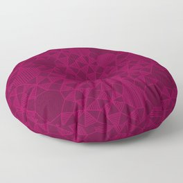 Abstract Minimalism in Raspberry Floor Pillow