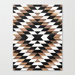 Urban Tribal Pattern No.13 - Aztec - Concrete and Wood Canvas Print