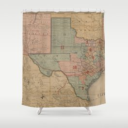 Houston Post map of the great Southwest (1880) Shower Curtain
