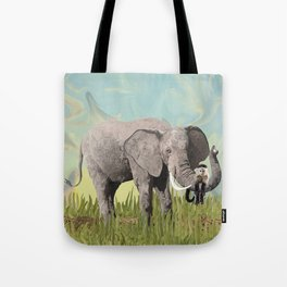 Monkeying Around the Trunk Tote Bag