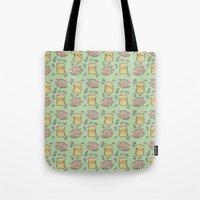 hamster Tote Bags featuring Hamster Pattern by Noreen Torelli