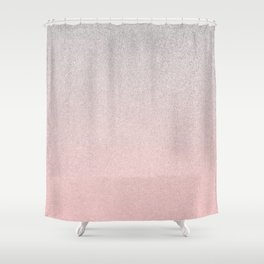 pink silver glitter ombre Shower Curtain