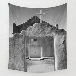 Ansel Adams - Taos Pueblo Church Wall Tapestry