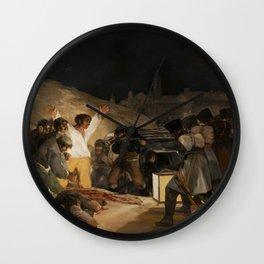 The Third of May by Francisco Goya Wall Clock