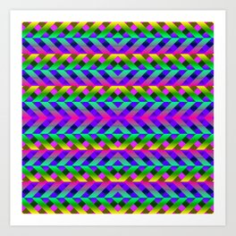 Rainbow Scaffolding Art Print