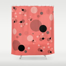 Coral Dots Shower Curtain