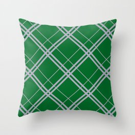 Slytherin Argyle Throw Pillow