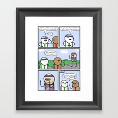 Antics #363 - one of us Framed Art Print