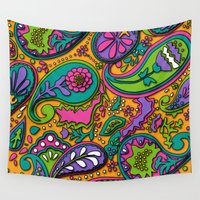 paisley Wall Tapestries featuring Paisley by Shelly Bremmer
