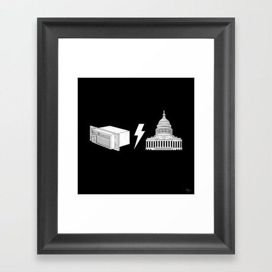 Literal AC/DC Framed Art Print