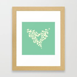 Heart In Hearts. Clouds in the hearts Framed Art Print