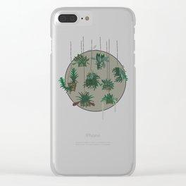 Vanda Baskets Cool Grey Clear iPhone Case