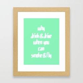 Smoke & Fly Framed Art Print
