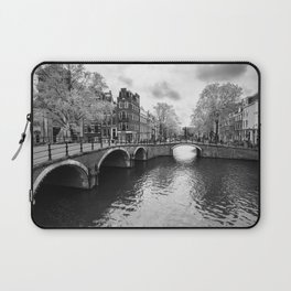 Bridge over canals in Amsterdam Laptop Sleeve
