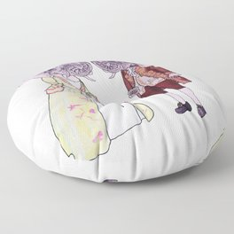 Madame and Monsieur Elephant Floor Pillow