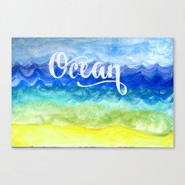 Ocean Side Canvas Print