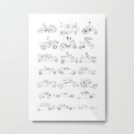 Car Poster Metal Print