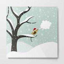 Christmas bird Metal Print