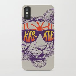 Karate Tiger iPhone Case