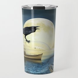 Bottle Ship in trouble Travel Mug