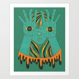 eyes of gypsy  Art Print
