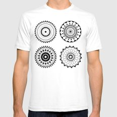 Mandala 4 Mens Fitted Tee SMALL White