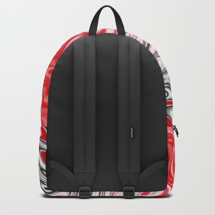 Fractal Rise in Red Black and White Backpack