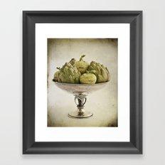 Eat more vegetables Framed Art Print