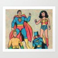 heroes Art Prints featuring Heroes by Saint Lepus