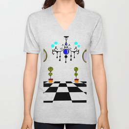 A Chandler with Mirrors and Topararies Unisex V-Neck