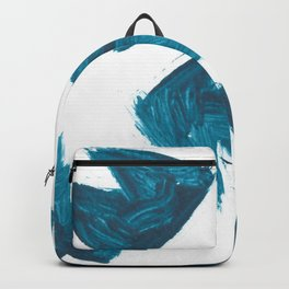 Basquiat Crown, Abstract, Blue Duck Backpack