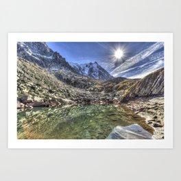 Mont Blanc Glacier Lake Art Print