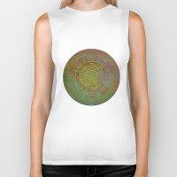 labyrinth Biker Tanks featuring Labyrinth by Klara Acel