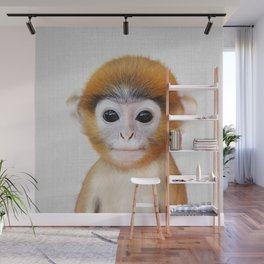 Baby Monkey - Colorful Wall Mural