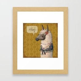 Bohemian Llama Framed Art Print
