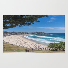 Bondi Beach looking north. Rug