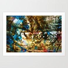 Retrollage 7.. Art Print