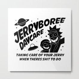 Rick Morty Inspired Jerryboree Metal Print