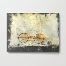 Father's Glasses Metal Print