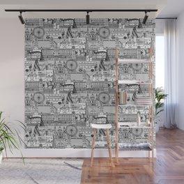 London toile black white Wall Mural