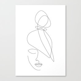 Hairstyle Lines Canvas Print