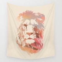 desert Wall Tapestries featuring Desert Lion by Robert Farkas