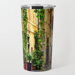 Vintage street in Rome, after Rain Travel Mug