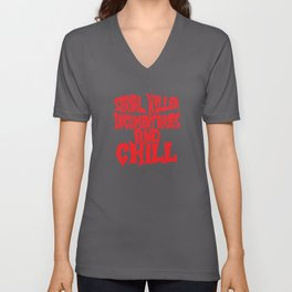 Serial Killer Document Aries And Chill Unisex V-Neck