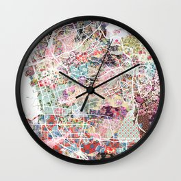 Chula Vista map Wall Clock