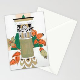 Pillar with flowers Stationery Cards