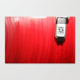 Red Vinyl Canvas Print