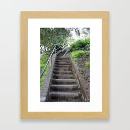 Stairs to Somewhere Framed Art Print